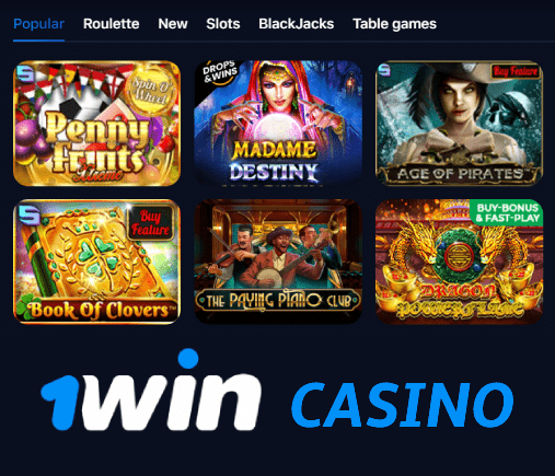 Online casino section at 1win site
