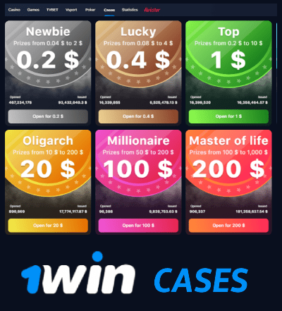 1win cases online game