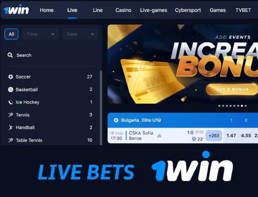 Live betting at 1win bookie india