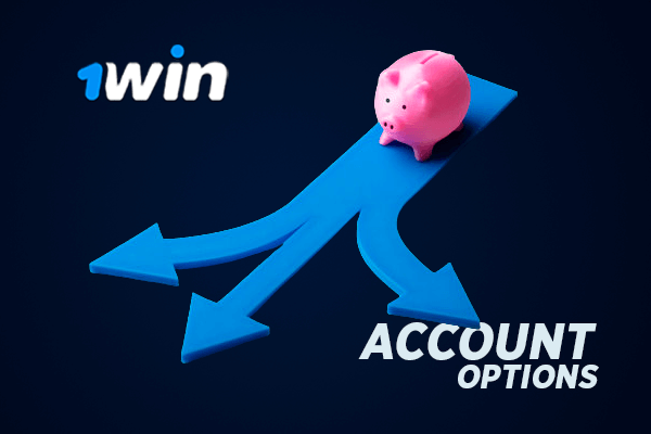 1win personal account options