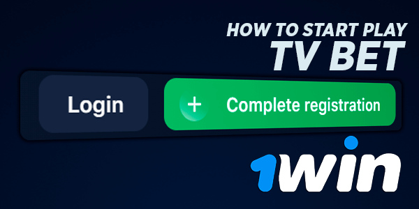 How to start play 1win TV bet